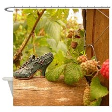 Raspberry Shoe Shower Curtain