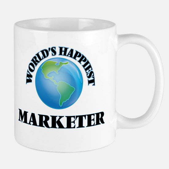 World's Happiest Marketer Mugs