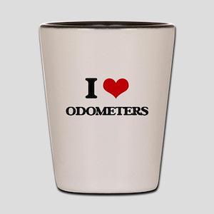I Love Odometers Shot Glass