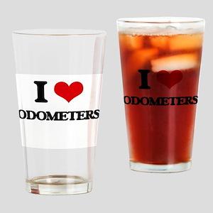 I Love Odometers Drinking Glass