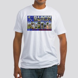 Black Mountain North Carolina (Front) Fitted T-Shi