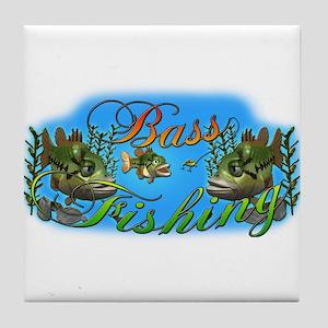Bass Fishing Tile Coaster