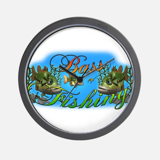 Bass Fishing Wall Clock