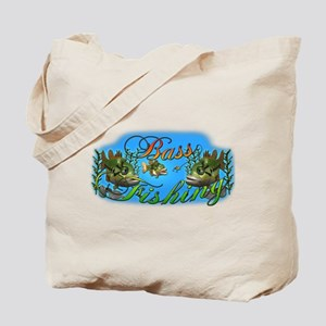 Bass Fishing Tote Bag