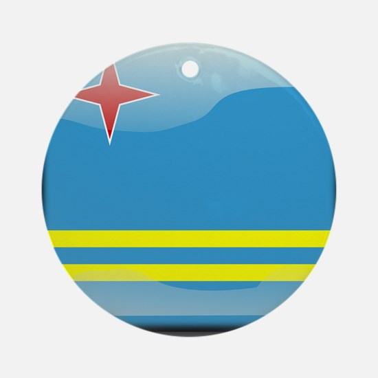 Flag of Aruba Ornament (Round)