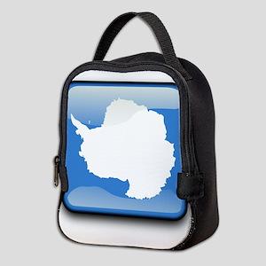 Flag of Antarctica Neoprene Lunch Bag
