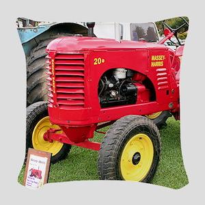 Massey-Harris Tractor Woven Throw Pillow