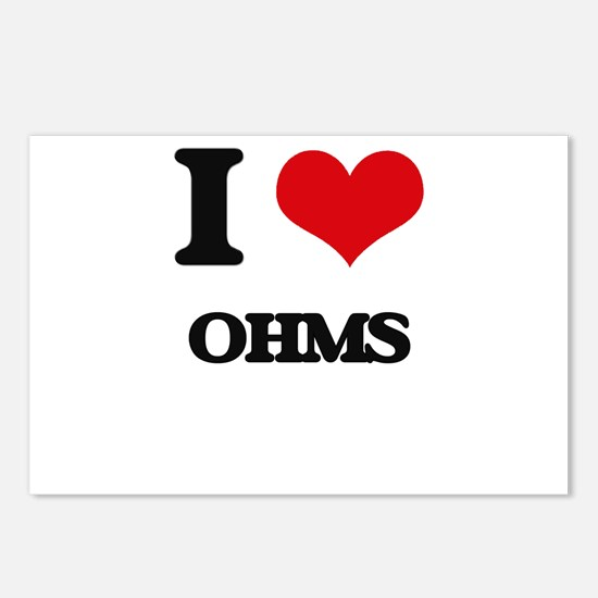 I Love Ohms Postcards (Package of 8)