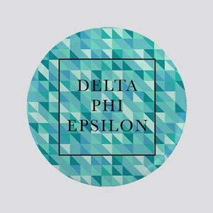 "Delta Phi Epsilon Geometric 3.5"" Button"