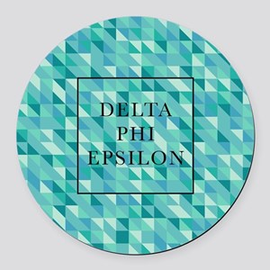 Delta Phi Epsilon Geometric Round Car Magnet