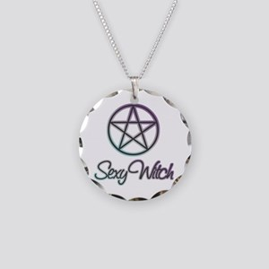 Sexy witch design Necklace Circle Charm