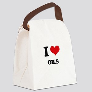 I Love Oils Canvas Lunch Bag