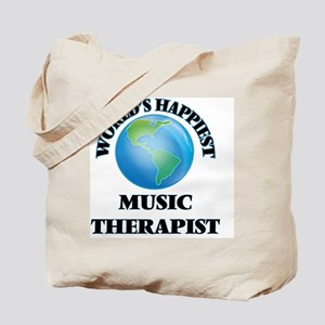 World's Happiest Music Therapist Tote Bag