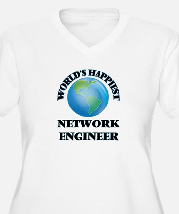 World's Happiest Network Enginee Plus Size T-Shirt