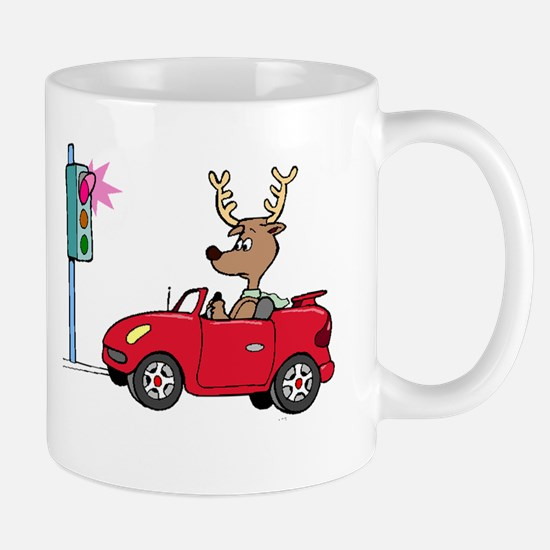 Deer At Red Light Mugs