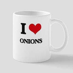 I Love Onions Mugs