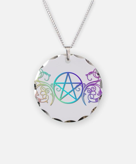 Colorful Pentacle Necklace