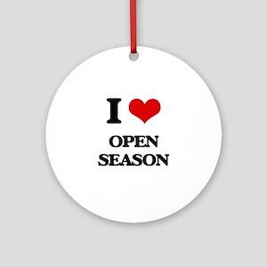 I Love Open Season Ornament (Round)