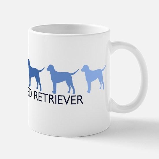 Curly Coated Retriever (blue  Mug