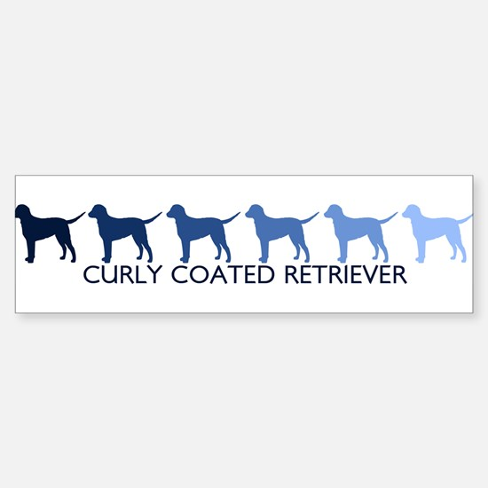 Curly Coated Retriever (blue Bumper Bumper Bumper Sticker