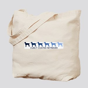 Curly Coated Retriever (blue  Tote Bag
