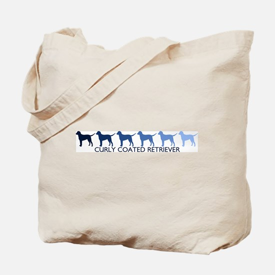 Curly Coated Retriever (blue  Tote Bag