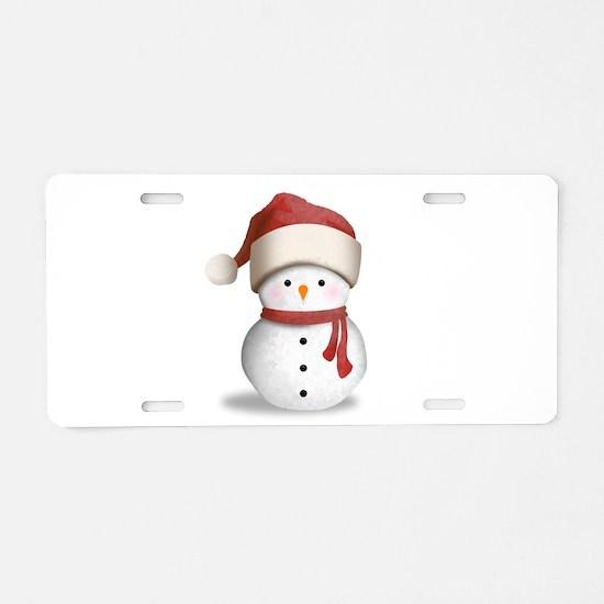 Snowman Baby Aluminum License Plate