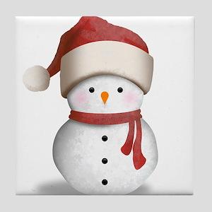 Snowman Baby Tile Coaster