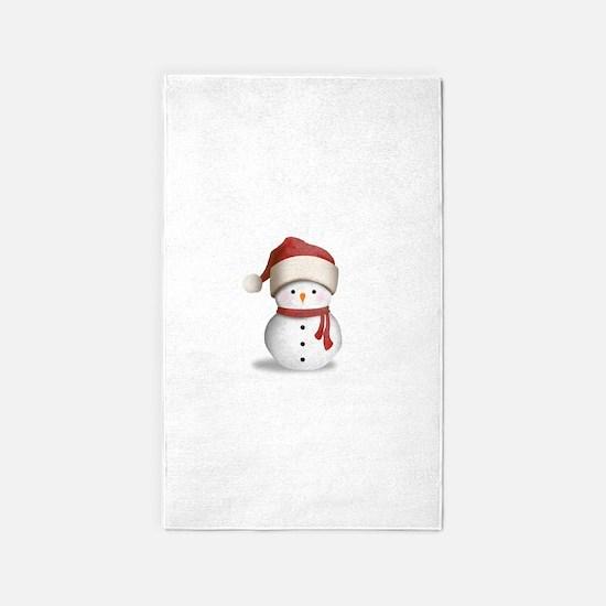 Snowman Baby Area Rug