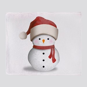 Snowman Baby Throw Blanket