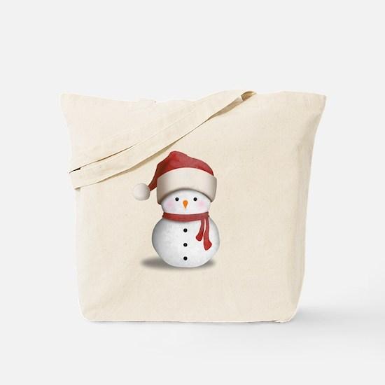 Snowman Baby Tote Bag