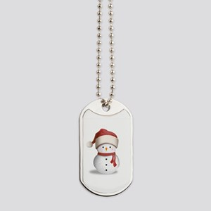 Snowman Baby Dog Tags