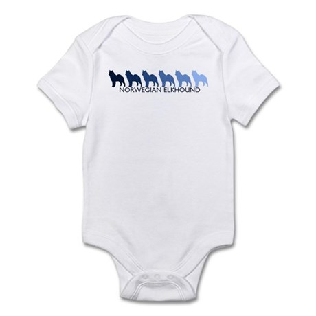 Norwegian Elkhound (blue colo Infant Bodysuit