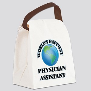 World's Happiest Physician Assist Canvas Lunch Bag