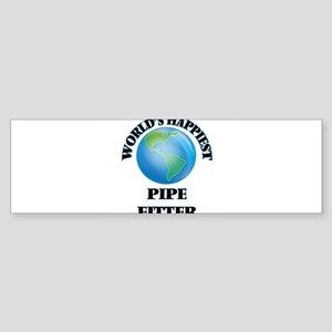World's Happiest Pipe Fitter Bumper Sticker