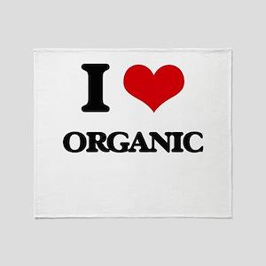 I Love Organic Throw Blanket
