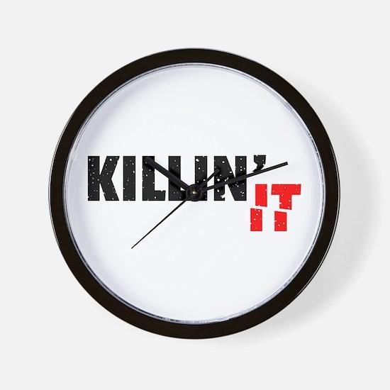 Slang Killin It Since Black Cool Grunge Wall Clock
