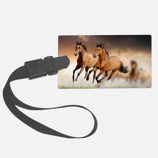 running horses Large Luggage Tag