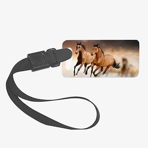 running horses Small Luggage Tag