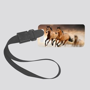 running horses Small Luggage Tag
