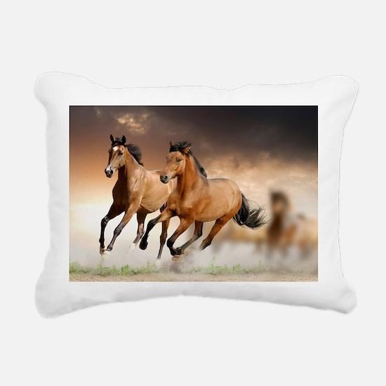 running horses Rectangular Canvas Pillow