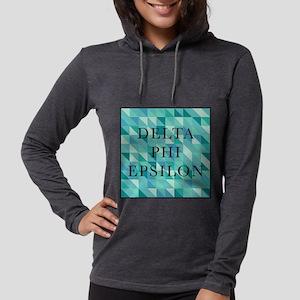 Delta Phi Epsilon Geometric Womens Hooded Shirt