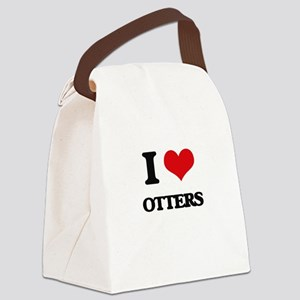 I Love Otters Canvas Lunch Bag