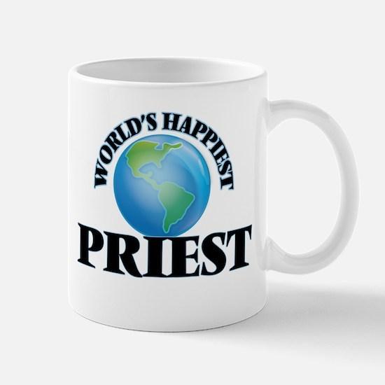 World's Happiest Priest Mugs