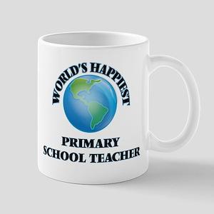 World's Happiest Primary School Teacher Mugs