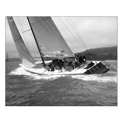 black + white sailing small borderless posters