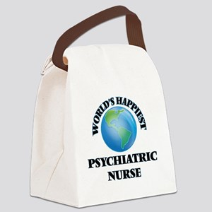 World's Happiest Psychiatric Nurs Canvas Lunch Bag