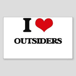 I Love Outsiders Sticker