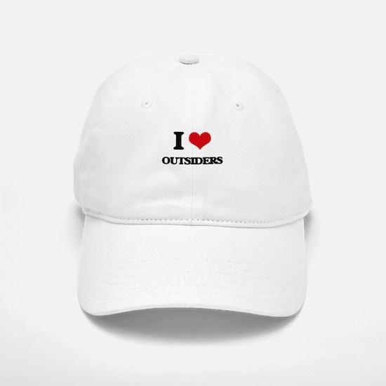 I Love Outsiders Baseball Baseball Cap