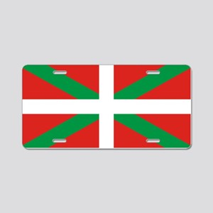The Ikurriña, Basque flag Aluminum License Plate